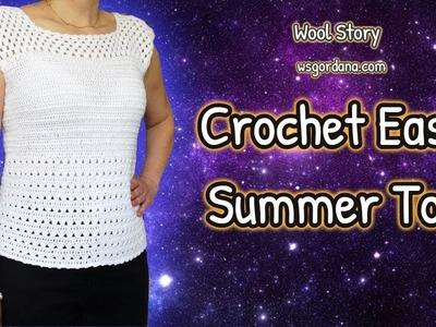 DIY How to Crochet Easy Summer Top