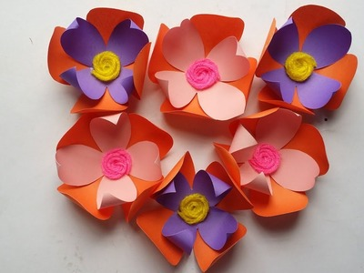DIY: How to Make  Decorative & Simple  Paper Flower!!! Easy Flower Making Tutorial!!!