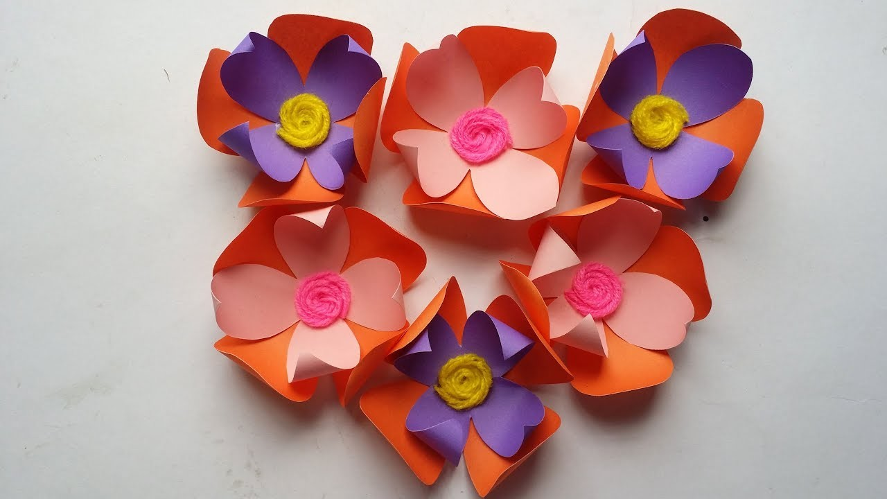 Diy how to make decorative simple paper flower easy flower diy how to make decorative simple paper flower easy flower making tutorial mightylinksfo