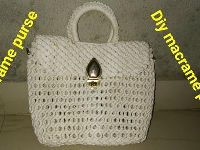 DIy how to make macrame purse # design 23
