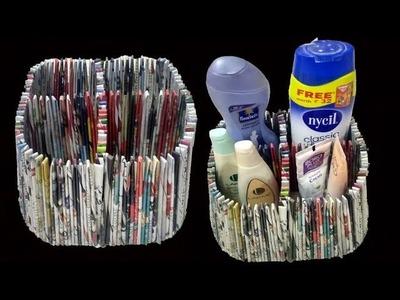 DIY || How to make multipurpose box using newspaper & Cardboard || Newspaper Craft || Art With Neha