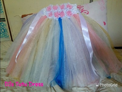 DIY how to make Unicorn Little Pony Tutu Dress with accent of White Color