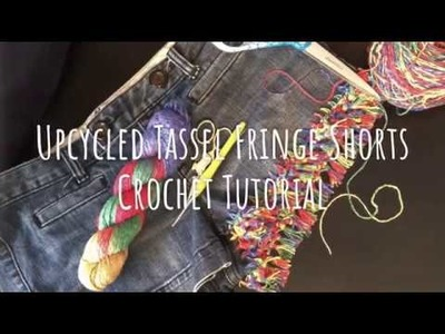 DIY: How To Upcycle Jean Shorts With Yarn