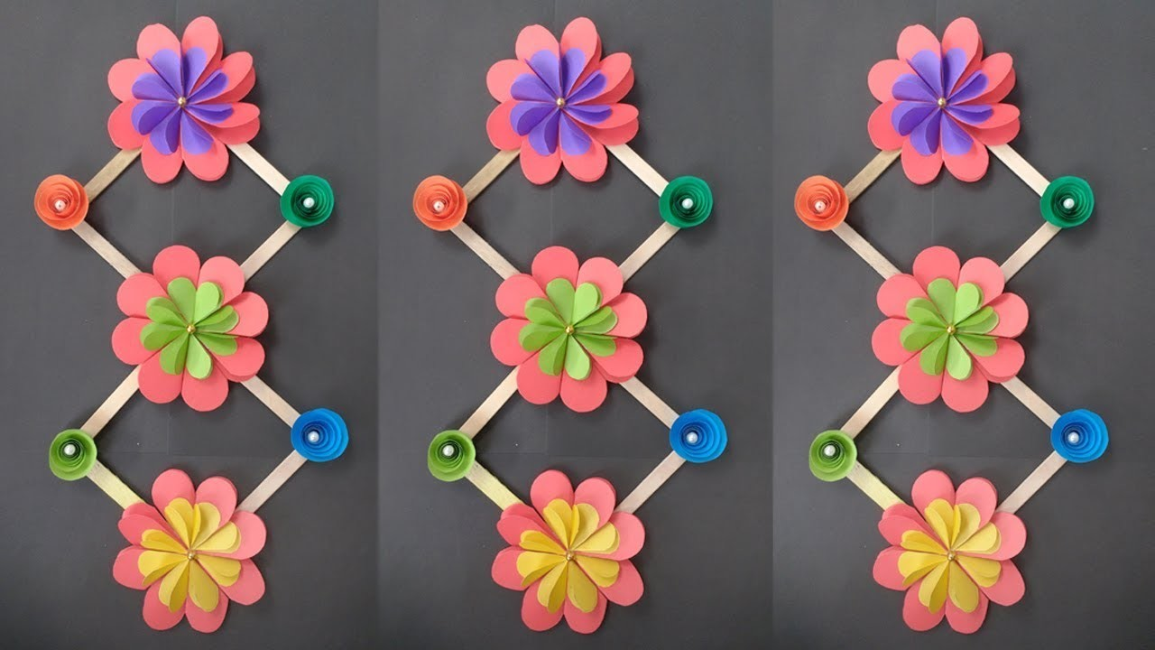 Diy Ice Cream Stick Crafts How To Make Beautiful Wall Hanging