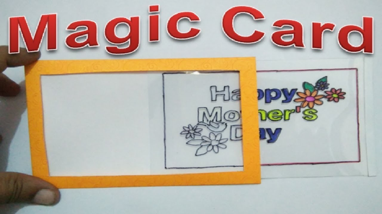 (DIY Magic Card) Mother's Day Card from Old Wedding Cards | #TukkuTV