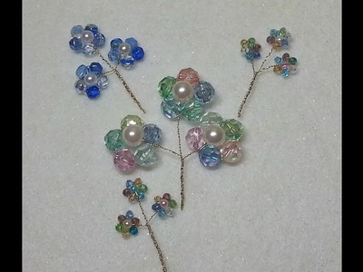 DIY~Make Beautiful And EASY Bead Flower Spray Embellishments!