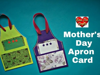 DIY - Mother's Day Gift Idea |  How to Make Apron Card for Mother's Day