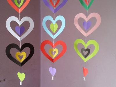DIY: Paper Crafts!!! How to Make Easy & Beautiful Paper Hanging for Wall.Party.Home Decoration!!!