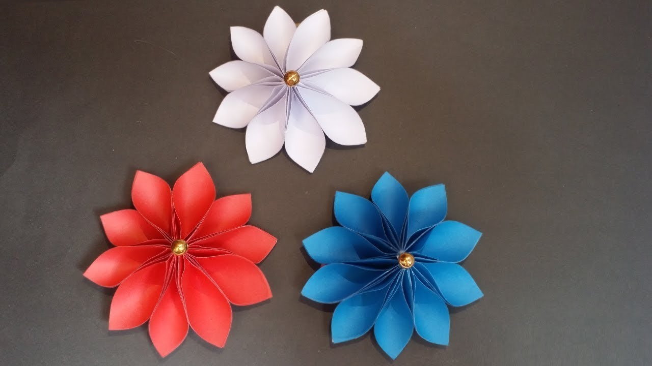 Diy Paper Flowers How To Make Easy Beautiful Flower With