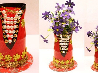 DIY - Plastic Bottle Craft - Plastic Bottle Recycling - How to Use Plastic Bottles for Decoration