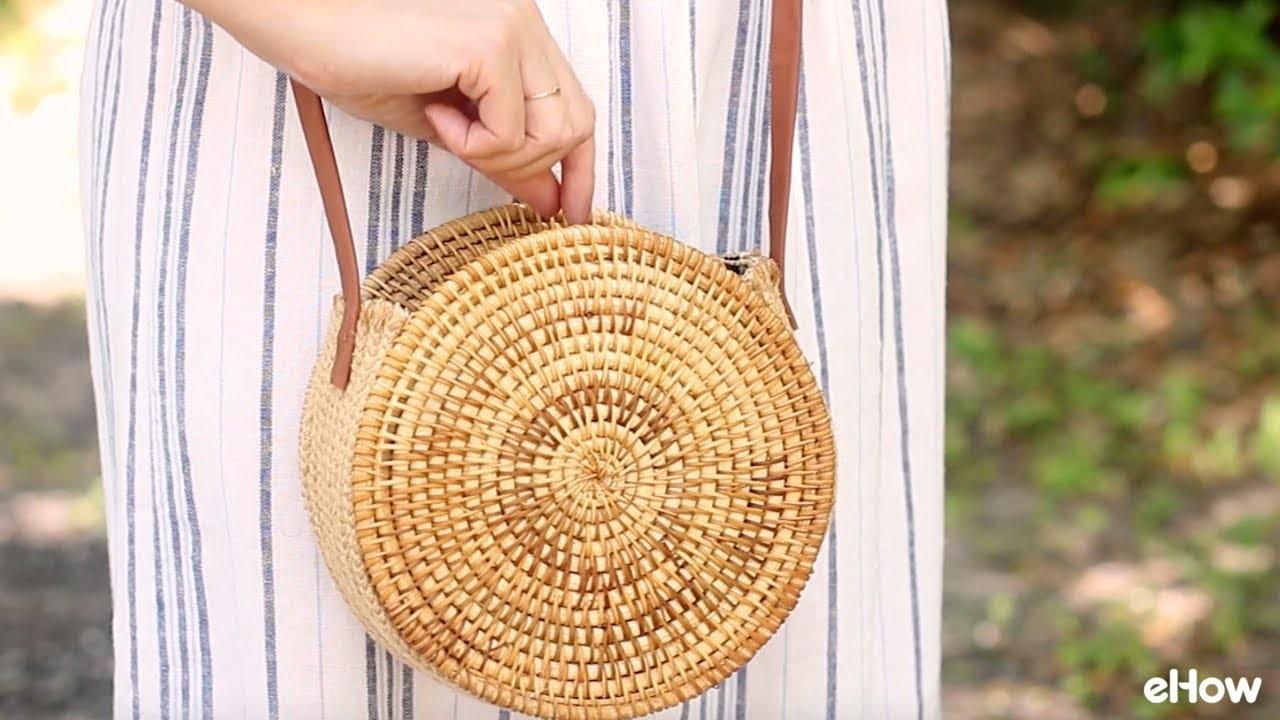 DIY Round Straw Basket Bag