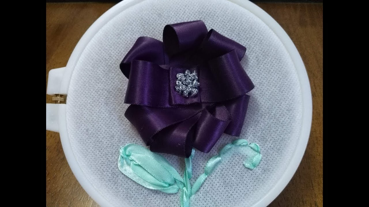 Diy Satin Ribbon Crafts How To Make Embroidery Flower Tutorial