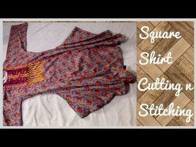 DIY SQUARE TUNIC TOP how to make TUNIC TOP cutting and stitching tutorial BEAUTIFUL SIRT