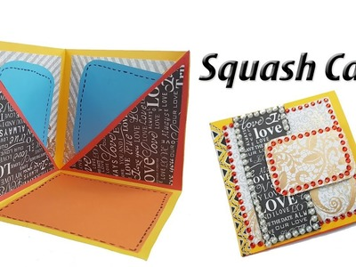 DIY Squash Card Tutorial | How to Make Squash Card for Scrapbook | JK Arts 1372
