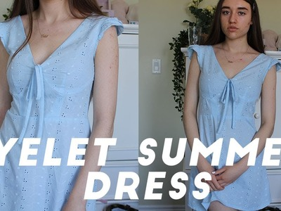 DIY SUMMER EYELET DRESS. SEWING TUTORIAL