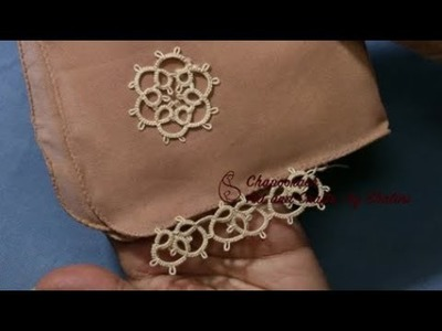 DIY Tatting | How to tuck Tatting Flower and Lace on cloth | Episode – 19