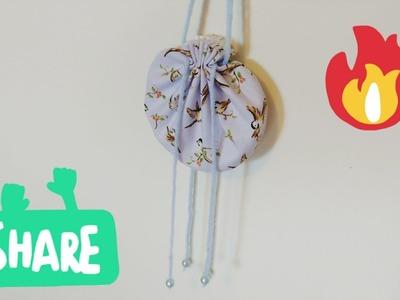 DIY Tutorial -  Chinese Style Accessories Blue Birds Sachet bag 荷包制作