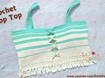 Easy Crochet for Summer: Crochet Crop Top #13