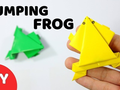 Easy Jumping Frog Paper Craft For Your Kid Making- DIY Hamster