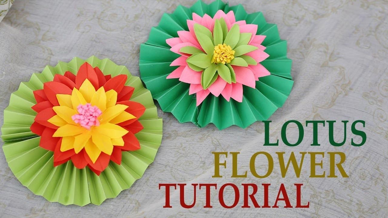 Easy Paper Craft Lotus Flower Tutorial Paper Craft Ideas