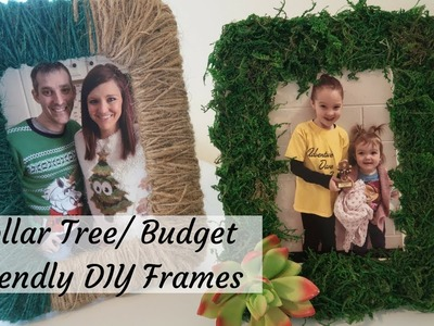 FARMHOUSE DECOR DIY | DOLLAR TREE DIY | MOSS AND TWINE FRAMES | BUDGET FRIENDLY | UNDER $5 DIY |