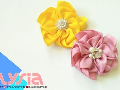 Flores Graciosas ???? DIY Kanzashi Flower Grace ???? DIY by Elysia Handmade