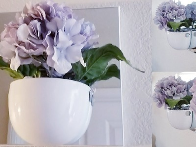 FLOWER WALL ART DECOR | INEXPENSIVE DIY FOR THOSE ON A BUDGET 2018