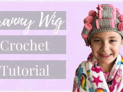 Granny Wig Crochet Pattern Tutorial Video | Hair Rollers Wig | Old Lady Wig Costume