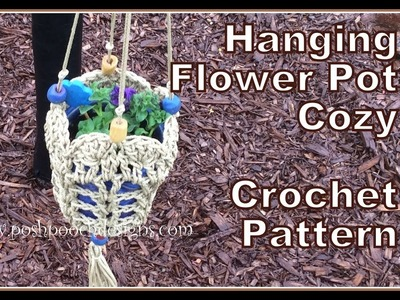 Hanging Flower Pot Cozy Crochet Pattern