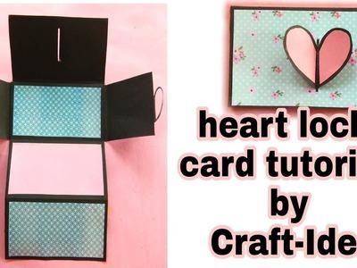 Heart lock card tutorial by Craft-Idea