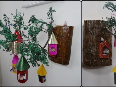 Home Decor Ideas | Wall Hanging Birdhouse DIY | Bird Nest Making | Newspaper Crafts