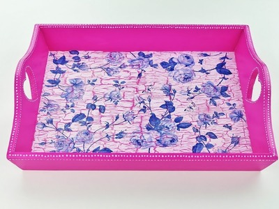 How to change old decoupage tray - Decoupage tray - Decoupage tutorial - DIY - Do It Yourself
