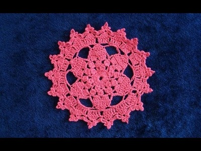 How to Crochet a Star Doily with Mini Cupcake Edging Pattern #724│by ThePatternFamily
