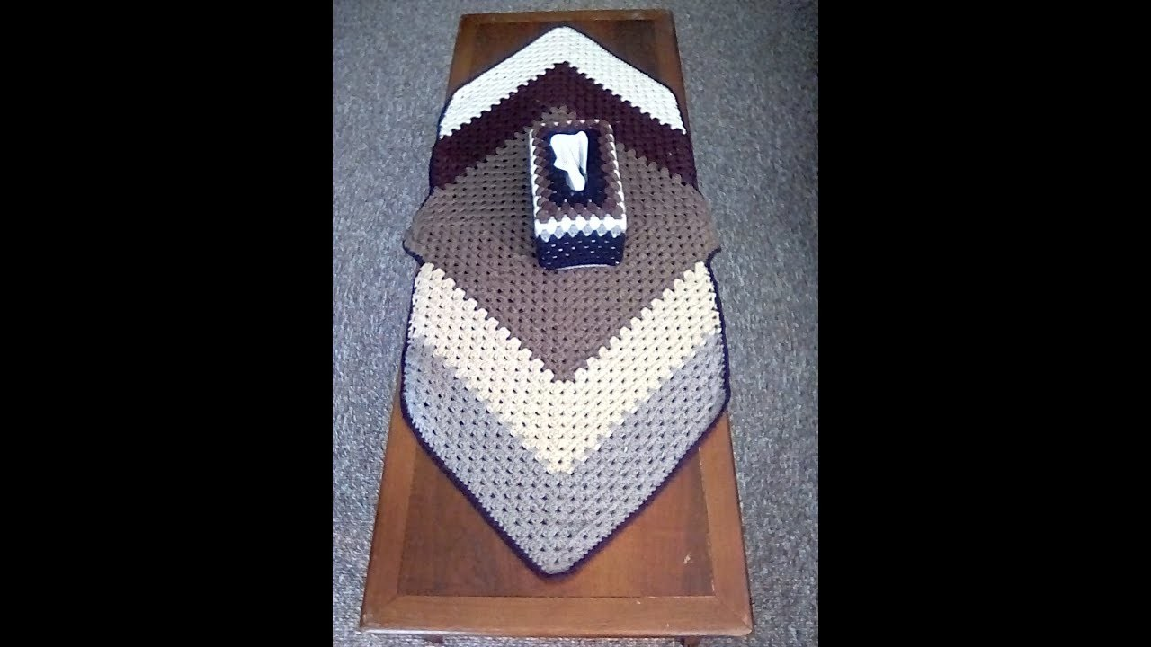 How to Crochet a Tablecloth Granny Square Diamond Pattern