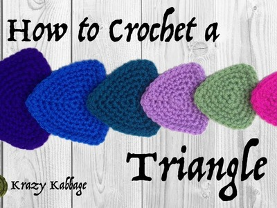 How to Crochet a Triangle