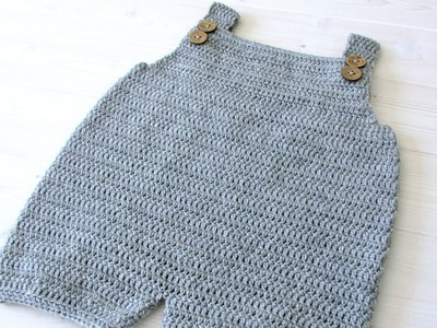 How to crochet baby. children's simple dungarees - the Robin dungarees. romper