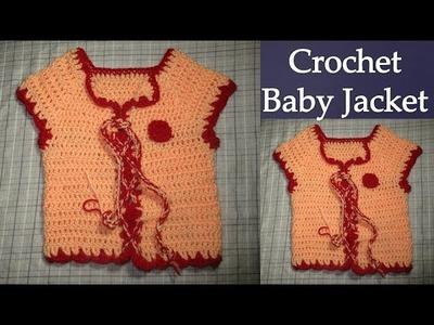 How to Crochet Baby Jacket [HINDI]