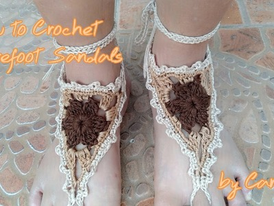 How to Crochet Barefoot Sandals by Carolyn