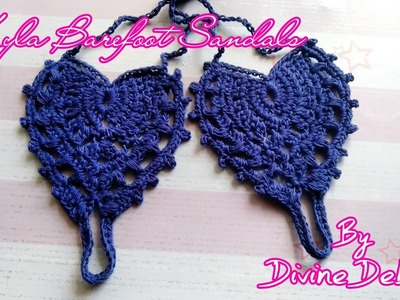How to Crochet Kyla Barefoot Sandals by Divine Debris