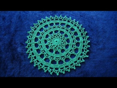How to Crochet Lace 14'' Doily Pattern #720│by ThePatternFamily