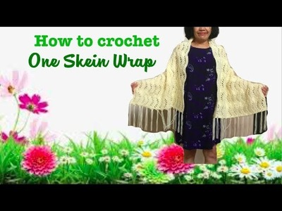 How to crochet One Skein Wrap