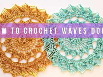How to crochet waves doily