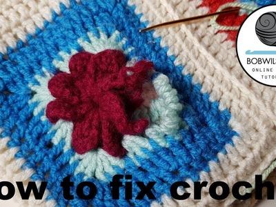 How to fix crochet