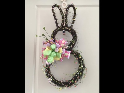 How to make a Easter Bunny Decoration wtih a Bunny Form