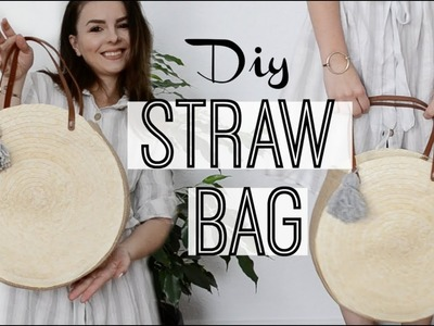 How to make a round straw bag | Owlipop DIY|