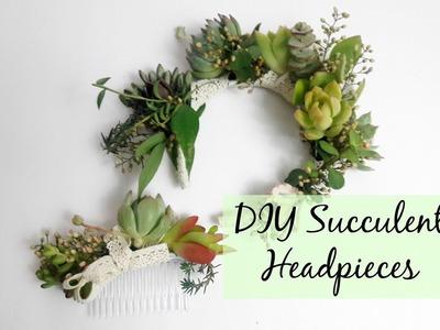 How to Make a Succulent Head Band | DIY Succulent Head Pieces