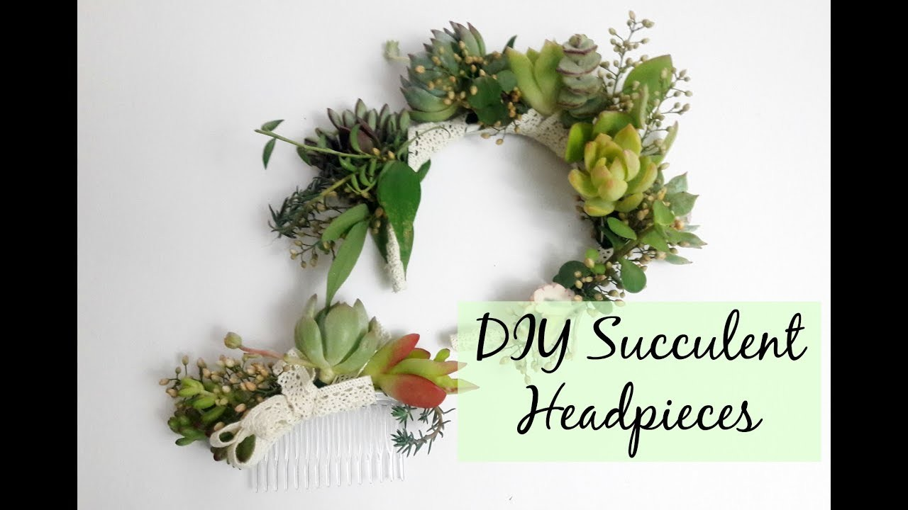 How to Make a Succulent Head Band | DIY Succulent Head Pieces