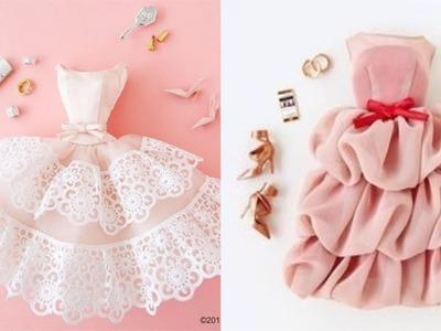 How to Make Barbie Doll Clothes ???????? DIY Barbie Clothes Life Hacks ???? Barbie Tutorial