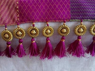 How to make beautiful saree kuchu - easy method