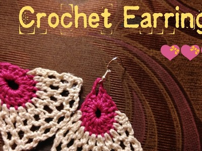 ???? How to make Crochet Earrings ????